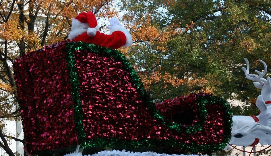 Santa in a sleigh